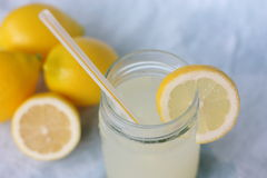 Limonata in Mason Jar Fotografia Stock