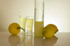 Limonce. Traditional Italian liqueur with lemons Royalty Free Stock Image