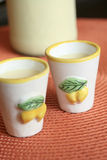 Limoncello cream in Vietri pottery Royalty Free Stock Image