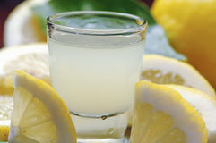 Limoncello drink Royalty Free Stock Images