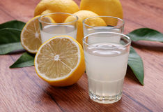 Limoncello, Italian liqueur Stock Images
