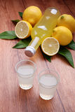Limoncello, Italian liqueur Royalty Free Stock Photos