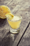 Limoncello Lemon Liqueur Royalty Free Stock Photo