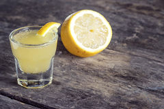 Limoncello Lemon Liqueur Royalty Free Stock Images