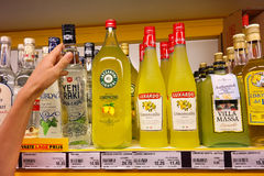 Limoncello in a Store Royalty Free Stock Photo