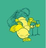Limoncello traditionnel italien Image stock