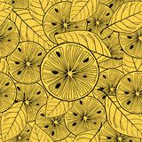 Limone affettato sopra giallo Priorità bassa senza giunte di vettore royalty illustrazione gratis
