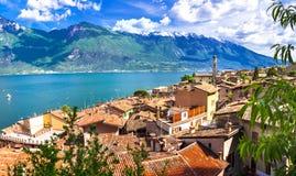 Limone - beautiful small town in pictorial Lago di Garda. Italy Stock Image