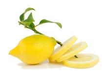 Limone con i segmenti. Fotografia Stock