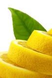 Limone con il foglio Immagini Stock