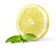 Limone con la menta immagine stock libera da diritti