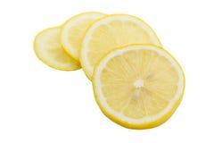 Limone della fetta isolato su fondo bianco Immagini Stock Libere da Diritti