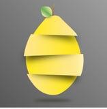 Limone di carta affettato illustrazione di stock