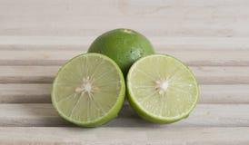 Limone di sezione trasversale Immagine Stock Libera da Diritti