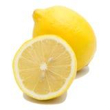 Limone due isolato su fondo bianco Fotografie Stock Libere da Diritti