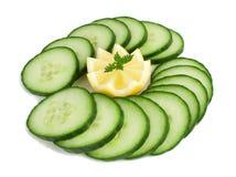 Limone e cetriolo. Fotografia Stock Libera da Diritti