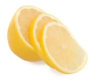 Limone e fette Immagini Stock Libere da Diritti
