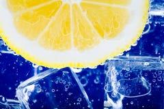 Limone e ghiaccio Fotografie Stock Libere da Diritti