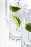 Limone e ghiaccio Fotografie Stock