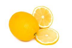 Limone e le sue parti Immagine Stock