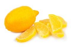 Limone e marmellata d'arance freschi Fotografia Stock Libera da Diritti