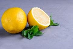 Limone e menta Fotografie Stock