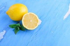 Limone e menta freschi Fotografia Stock Libera da Diritti