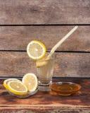Limone e miele Fotografia Stock Libera da Diritti