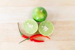 Limone e pepe Fotografia Stock