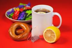 Limone e tè Immagine Stock Libera da Diritti