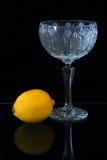 Limone e vaso Fotografie Stock