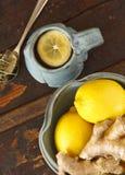 Limone e zenzero Fotografie Stock Libere da Diritti