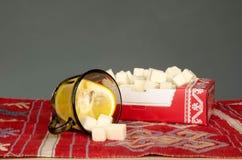Limone e zucchero Fotografia Stock