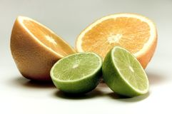 Limone ed arancio Immagine Stock