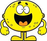 Limone felice del fumetto Fotografia Stock