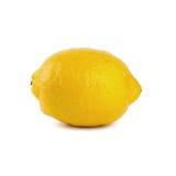 Limone fresco con sopra un fondo bianco Fotografie Stock