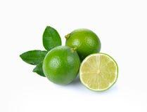 Limone fresco isolato su fondo bianco Fotografia Stock