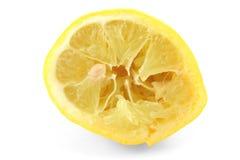 Limone fuori compresso su bianco Fotografia Stock Libera da Diritti