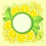 Limone giallo delle fette Immagini Stock
