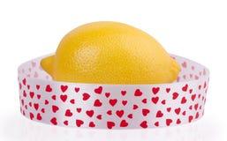 Limone isolato su fondo bianco Immagini Stock