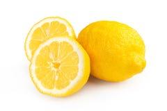 Limone isolato su priorità bassa bianca Immagini Stock