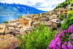 Limone - Lago Di Garda Στοκ Εικόνες