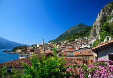 Limone on Lake Garda stock photos