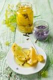 Limone marinato con lavanda Fotografia Stock Libera da Diritti
