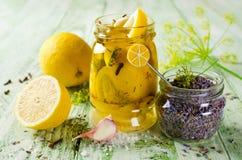 Limone marinato con lavanda Immagini Stock Libere da Diritti