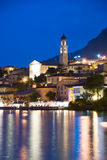Limone by Night. A night view of the village of Limone on the shores of Lake Garda, Italy Royalty Free Stock Photography