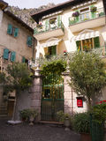 Limone piazza on Lake Garda Italy Stock Photos