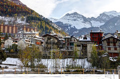 Limone Piemonte, Italy. Ski resort near France. Royalty Free Stock Photo