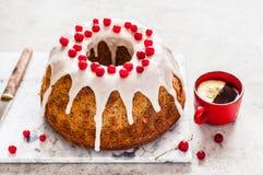 Limone Poppy Seed Bundt Cake fotografia stock