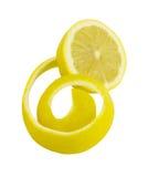 Limone sbucciato fresco Fotografia Stock Libera da Diritti